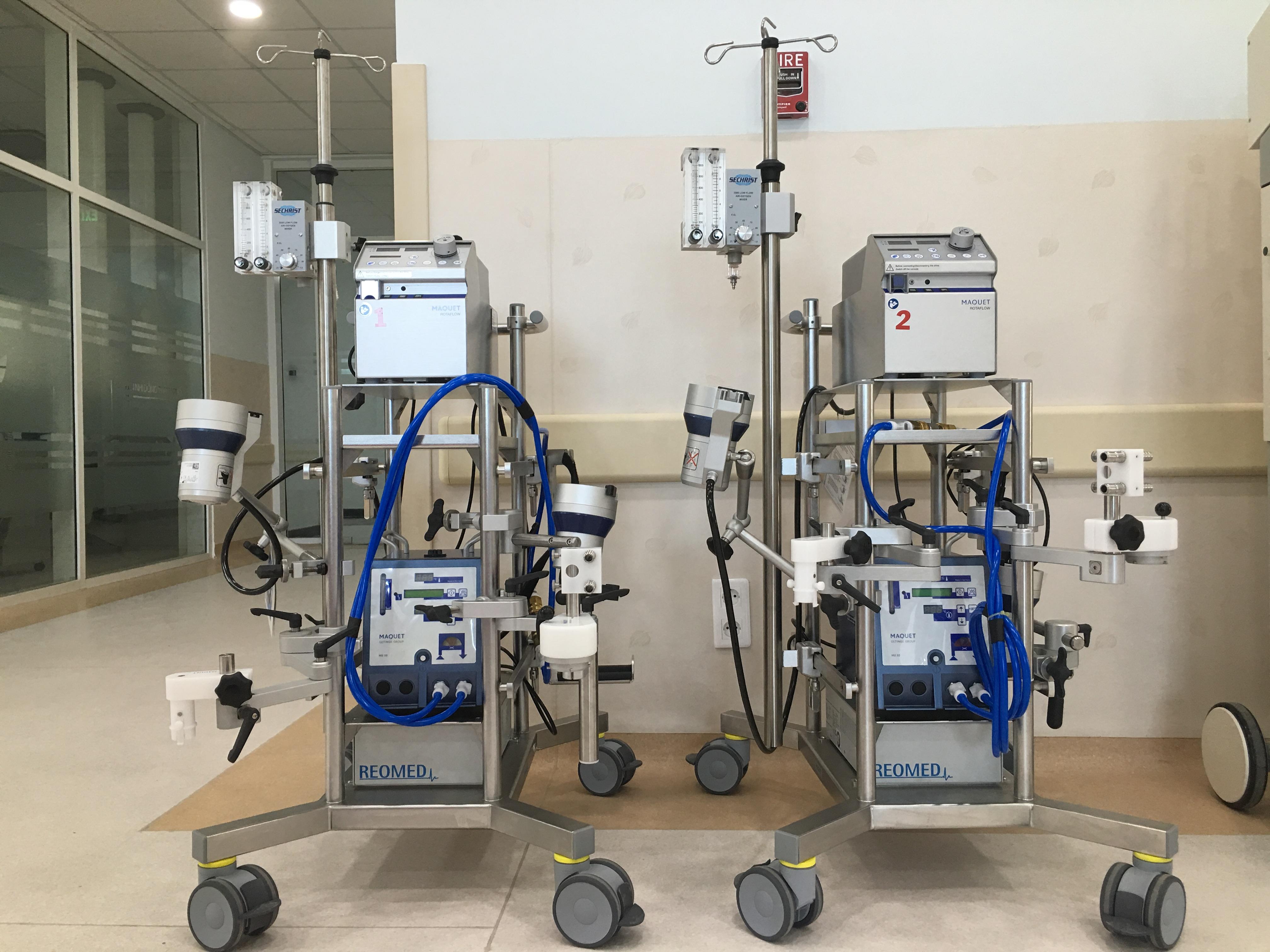 Máy hỗ trợ hô hấp-tuần hoàn ngoài cơ thể (ECMO)