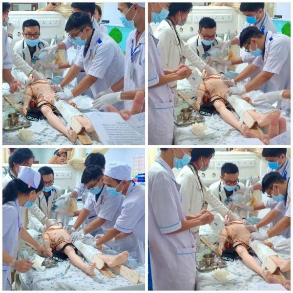 Bệnh Nhi (Mô hình mô phỏng lâm sàng) được tiến hành cấp cứu khẩn tại Khoa Cấp cứu – Bệnh viện Nhi Đồng Thành Phố.