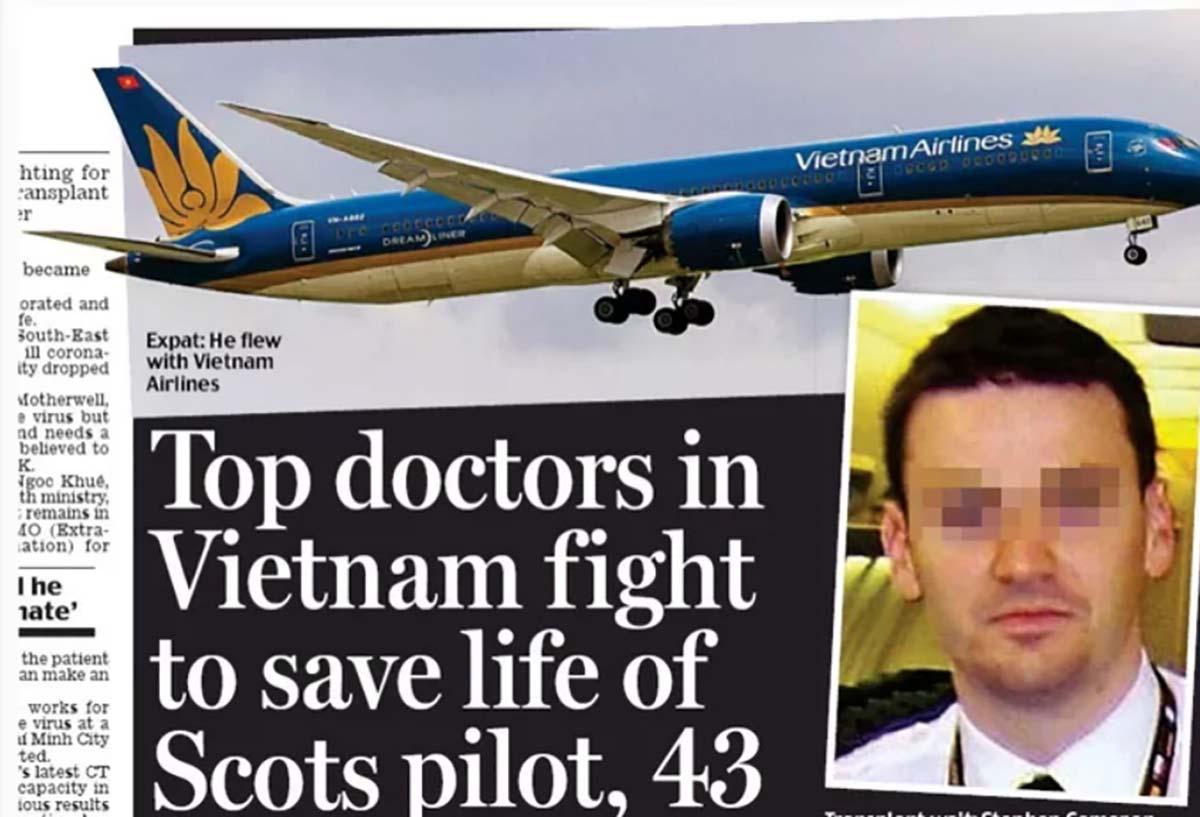 Kỳ tích cứu sống phi công người Anh: Ca bệnh nổi tiếng thế giới